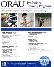 ORAU Professional Training Programs flyer