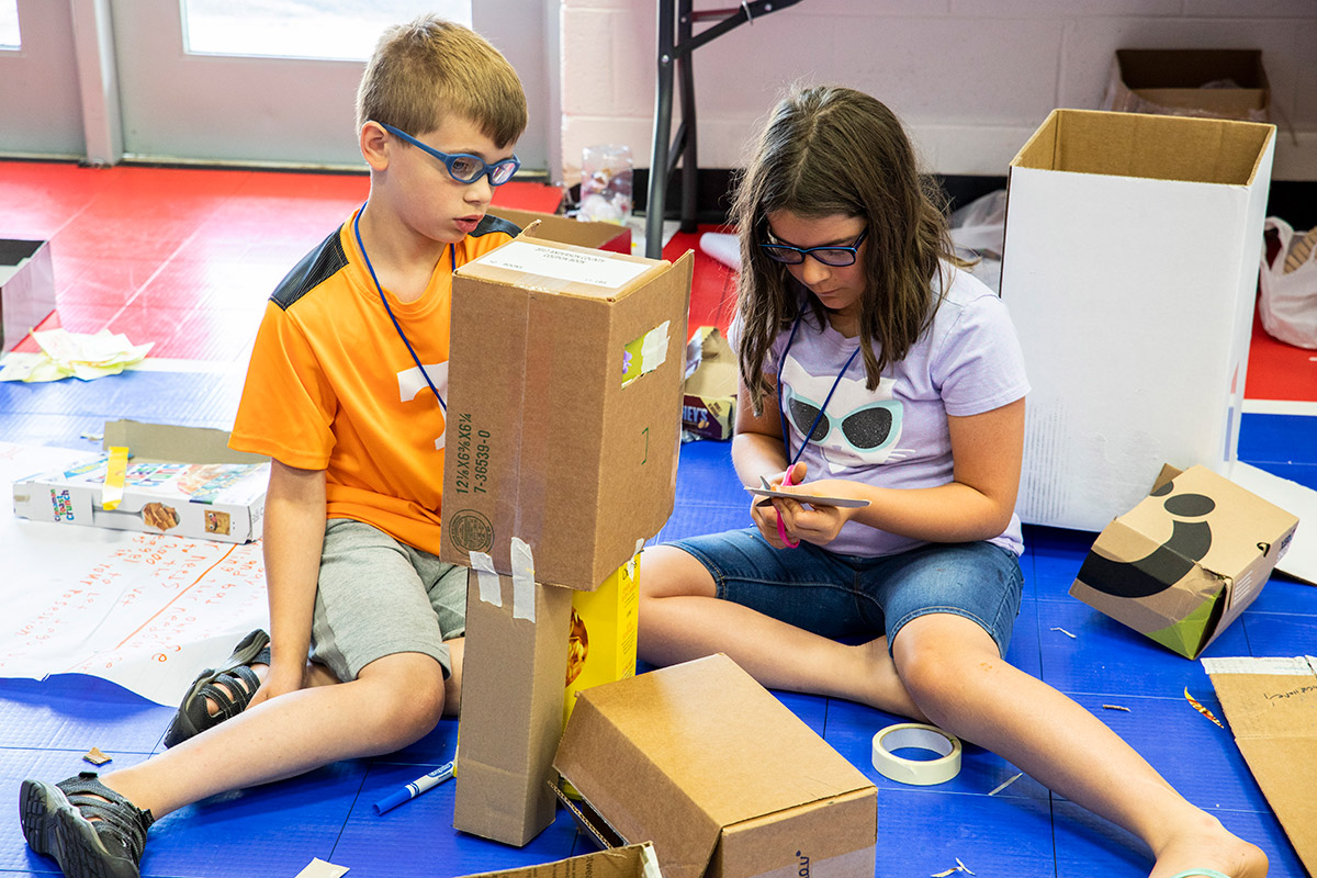 STEM Camp teaches elementary school students to solve problems with 'unplugged' tools