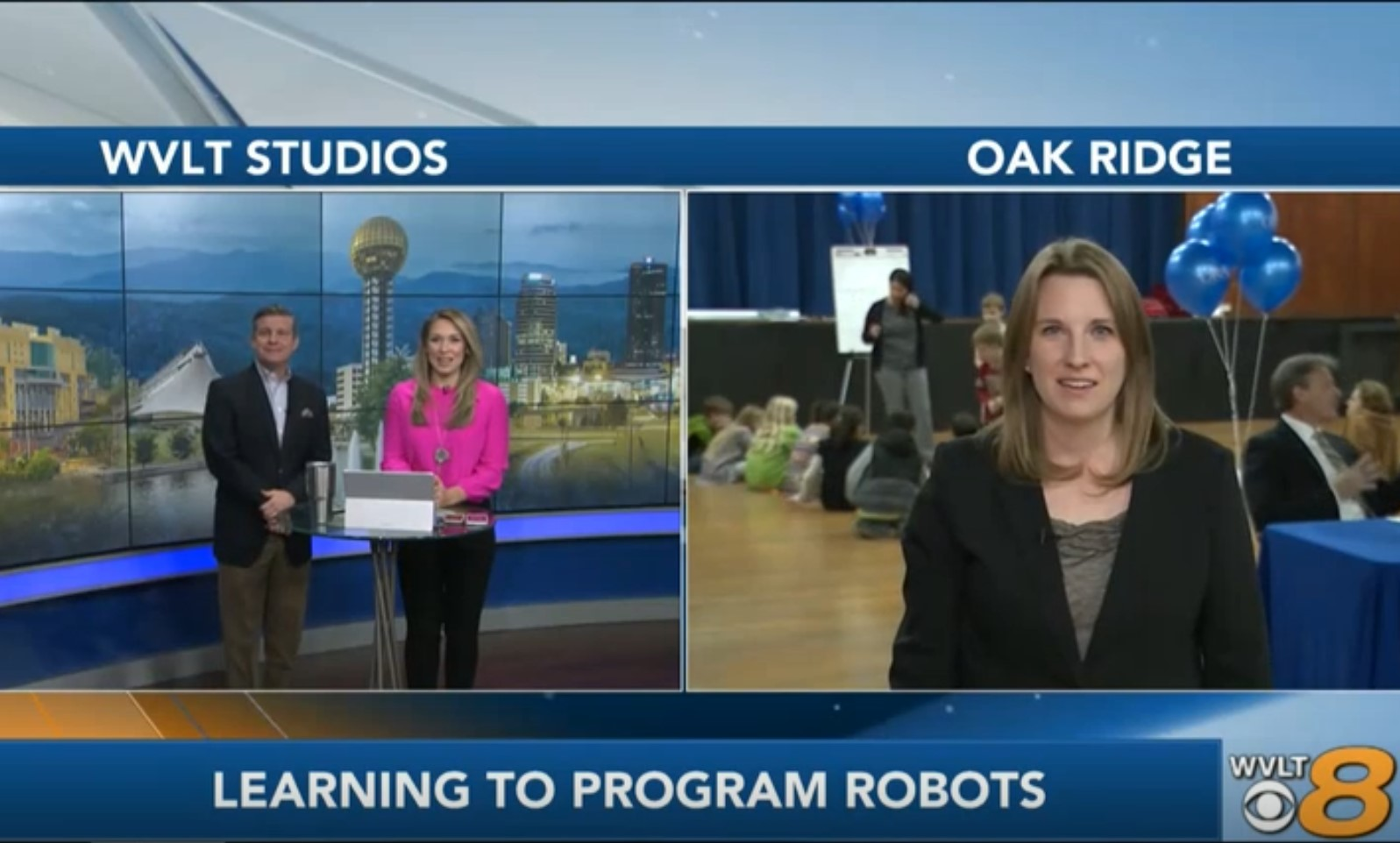 Elementary school students code robots to celebrate Computer Science Education Week