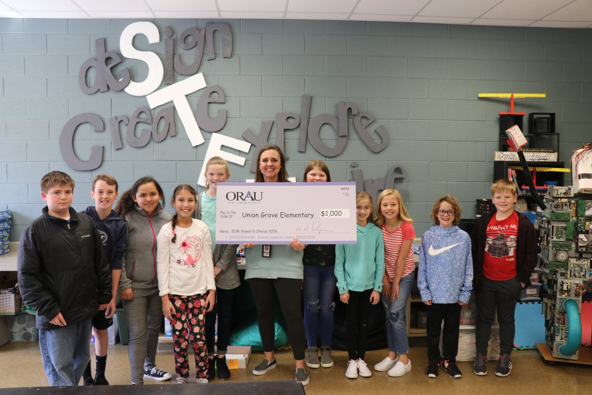 ORAU awards $25,000 to Union Grove Elementary School in annual Extreme Classroom Makeover competition